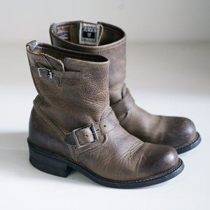 Frye Classic Made in USA Buckle Detail Short Boot